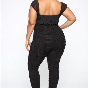 Peri Ruched Jumpsuit from Fashion Nova